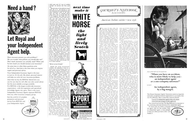 Article Preview: GOURMET'S NOTEBOOK, November 1965 | Maclean's