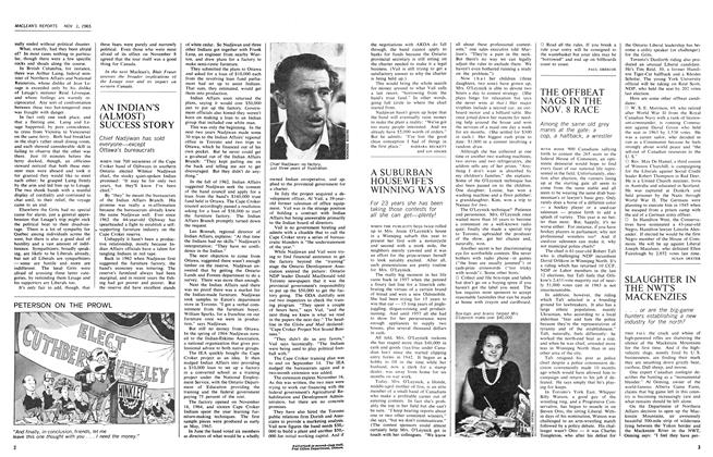 Article Preview: AN INDIAN'S (ALMOST) SUCCESS STORY, November 1965 | Maclean's