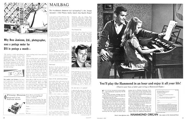 Article Preview: MAILBAG, November 1965 | Maclean's
