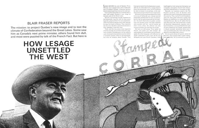 Article Preview: HOW LESAGE UNSETTLED THE WEST, November 1965 | Maclean's