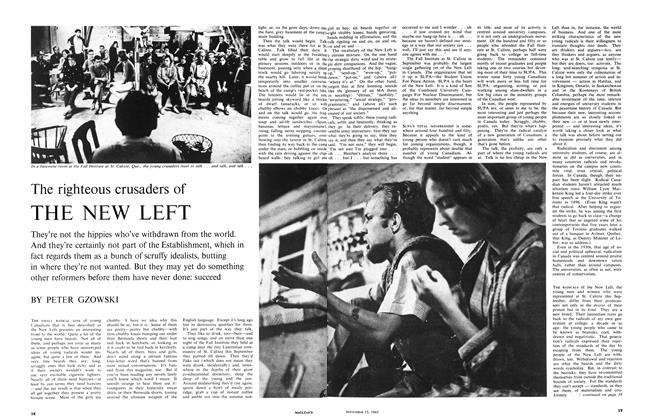 Article Preview: The righteous crusaders of THE NEW LEFT, November 1965 | Maclean's