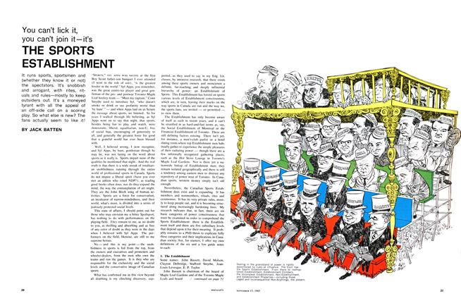 Article Preview: THE SPORTS ESTABLISHMENT, November 1965 | Maclean's