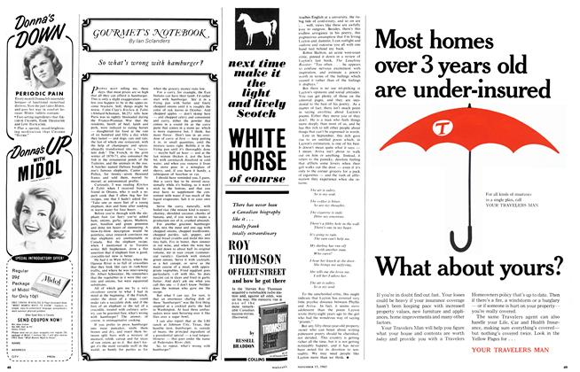 Article Preview: So what's wrong with hamburger?, November 1965 | Maclean's