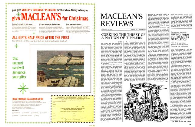 Article Preview: GIVING FORM TO THE MURK OF POLITICS, December 1965 | Maclean's