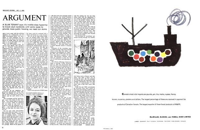 Article Preview: ARGUMENT, December 1965 | Maclean's