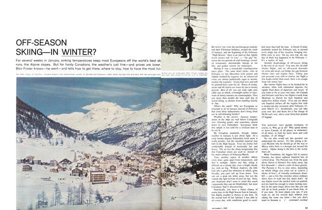 Article Preview: OFF-SEASON SKIING—IN WINTER?, December 1965   Maclean's