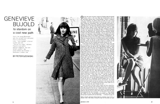 Article Preview: GENEVIEVE BUJOLD to stardom on a cool new path, December 1965 | Maclean's