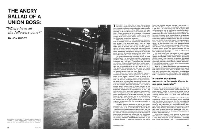 Article Preview: THE ANGRY BALLAD OF A UNION BOSS:, December 1965   Maclean's