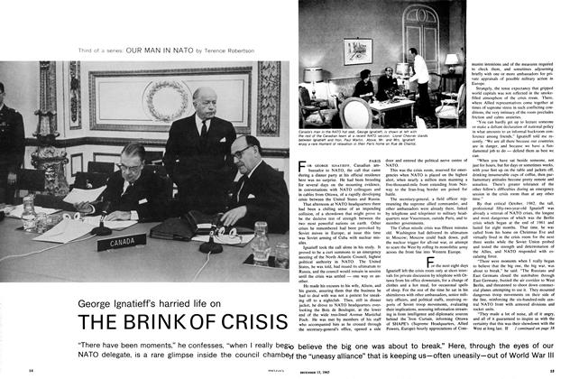 Article Preview: George Ignatieff's harried life on THE BRINK OF CRISIS, December 1965 | Maclean's