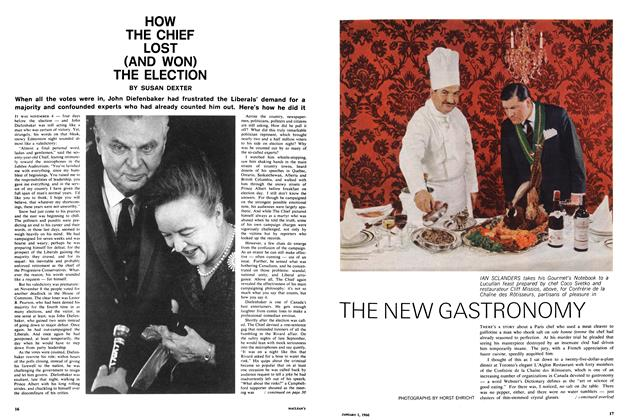 Article Preview: THE NEW GASTRONOMY, January 1966 | Maclean's