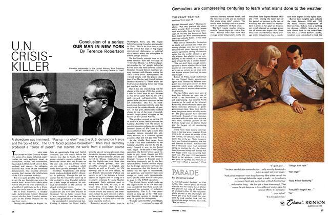 Article Preview: U.N. CRISISKILLER, January 1966 | Maclean's