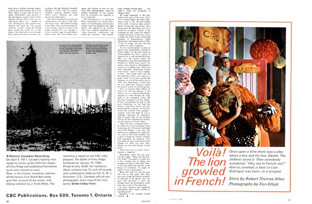 Article Preview: Voila! The lion growled in French!, January 1966 | Maclean's