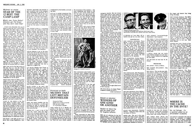Article Preview: STAR OF THE 12 BEST: THE CAMP LAMP, January 1966 | Maclean's