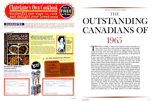 Article Preview: THE OUTSTANDING CANADIANS OF 1965, January 1966 | Maclean's
