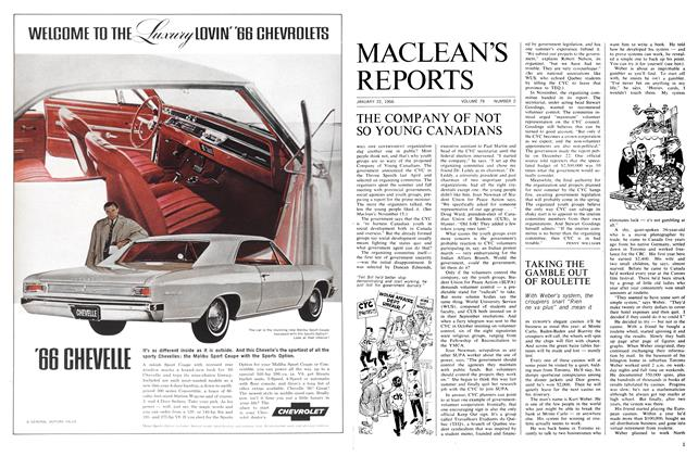 Article Preview: THE COMPANY OF NOT SO YOUNG CANADIANS, January 1966 | Maclean's