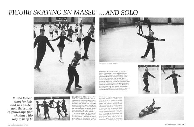 Article Preview: FIGURE SKATING EN MASSE ... AND SOLO, January 1966 | Maclean's