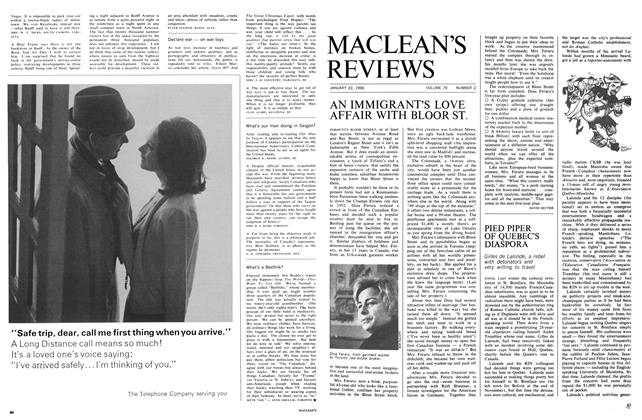 Article Preview: PIED PIPER OF QUEBEC'S DIASPORA, January 1966 | Maclean's