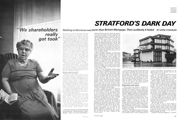Article Preview: STRATFORD'S DARK DAY, January 1966 | Maclean's