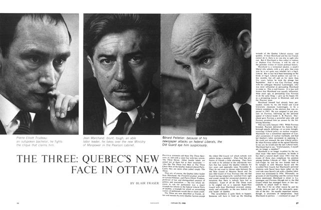 Article Preview: THE THREE: QUEBEC'S NEW FACE IN OTTAWA, January 1966 | Maclean's
