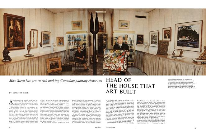 Article Preview: HEAD OF THE HOUSE THAT ART BUILT, February 1966 | Maclean's