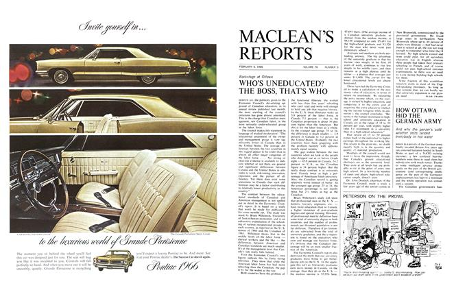 Article Preview: WHO'S UNEDUCATED? THE BOSS, THAT'S WHO, February 1966 | Maclean's