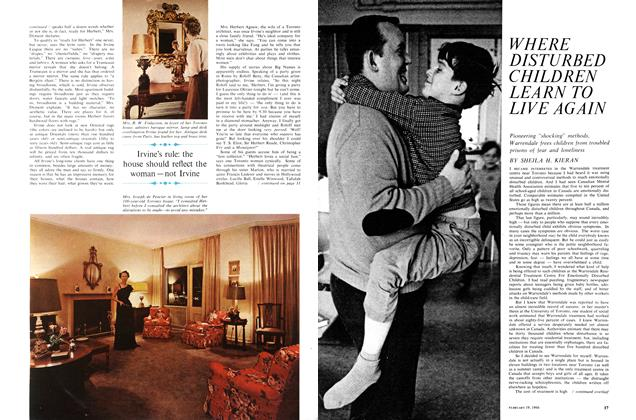 Article Preview: WHERE DISTURBED CHILDREN LEARN TO LIVE AGAIN, February 1966 | Maclean's