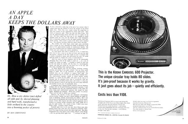 Article Preview: AN APPLE A DAY KEEPS THE DOLLARS AWAY, February 1966 | Maclean's