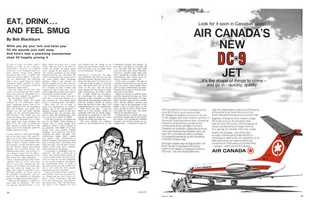 Article Preview: EAT, DRINK... AND FEEL SMUG, March 1966 | Maclean's