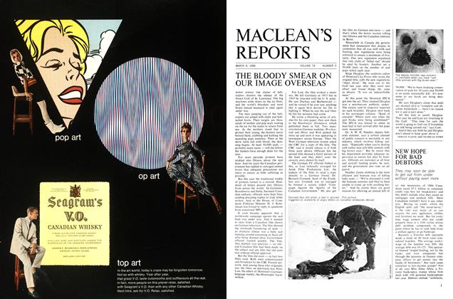 Article Preview: THE BLOODY SMEAR ON OUR IMAGE OVERSEAS, March 1966 | Maclean's