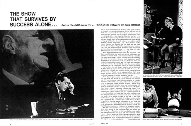 Article Preview: THE SHOW THAT SURVIVES BY SUCCESS ALONE . . ., March 1966 | Maclean's
