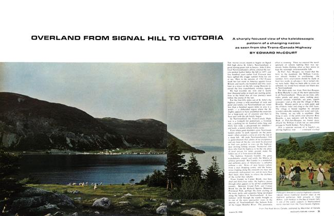Article Preview: OVERLAND FROM SIGNAL HILL TO VICTORIA, March 1966 | Maclean's