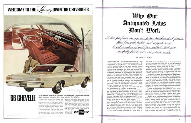 Article Preview: Why Our Antiquated Laws Don't Work, March 1966 | Maclean's