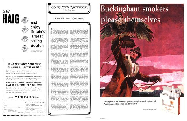 Article Preview: GOURMETS NOTEBOOK, April 1966 | Maclean's
