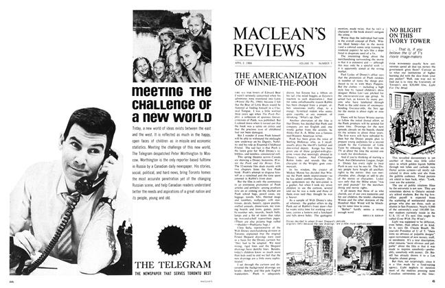 Article Preview: NO BLIGHT ON THIS IVORY TOWER, April 1966 | Maclean's