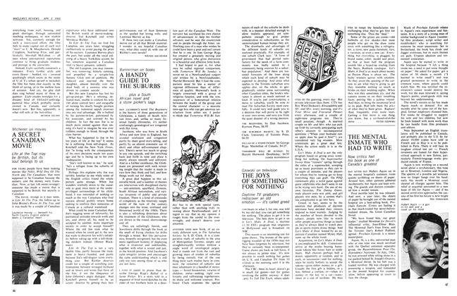 Article Preview: A HANDY GUIDE TO THE SUBURBS, April 1966 | Maclean's