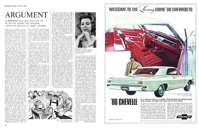 Article Preview: ARGUMENT, April 1966 | Maclean's