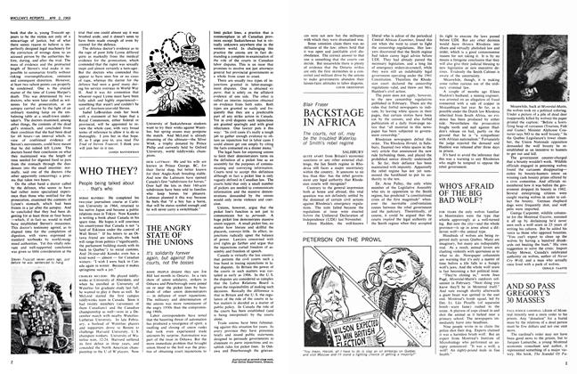 Article Preview: WHO'S AFRAID OF THE BIG BAD WOLF?, April 1966 | Maclean's