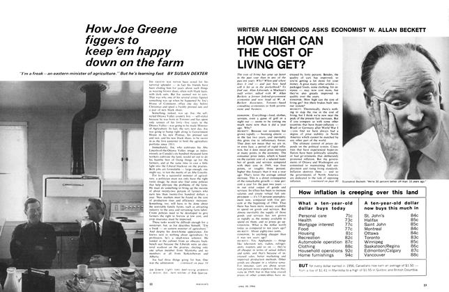 Article Preview: How Joe Greene figgers to keep'em happy down on the farm, April 1966 | Maclean's