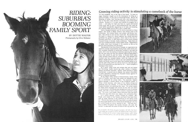 Article Preview: RIDING: SUBURBIAS BOOMING FAMILY SPORT, April 1966   Maclean's