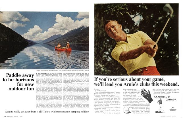 Article Preview: Paddle away to far horizons for new outdoor fun, April 1966 | Maclean's