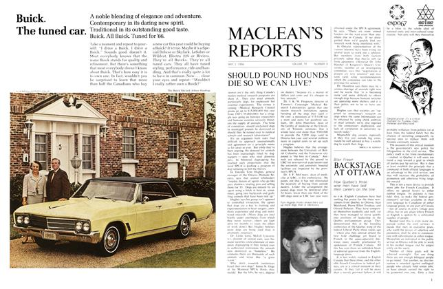 Article Preview: SHOULD POUND HOUNDS DIE SO WE CAN LIVE'?, May 1966 | Maclean's