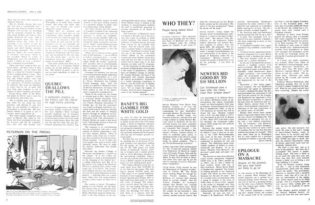 Article Preview: QUEBEC SWALLOWS THE PILL, May 1966 | Maclean's