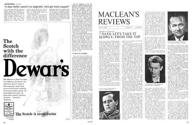 Article Preview: 7 DAYS: LET'S TAKE IT SLOWLY, FROM THE TOP, May 1966 | Maclean's
