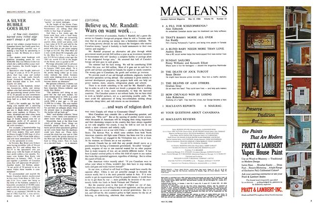 Article Preview: A SILVER BUBBLE GOES BUST, May 1966 | Maclean's