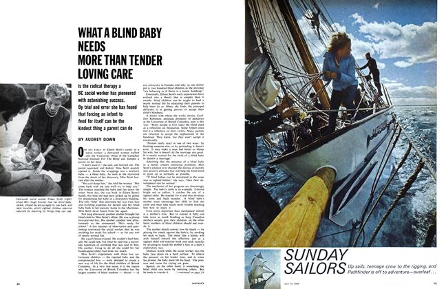 Article Preview: WHAT A BLIND BABY NEEDS MORE THAN TENDER LOVING CARE, May 1966 | Maclean's