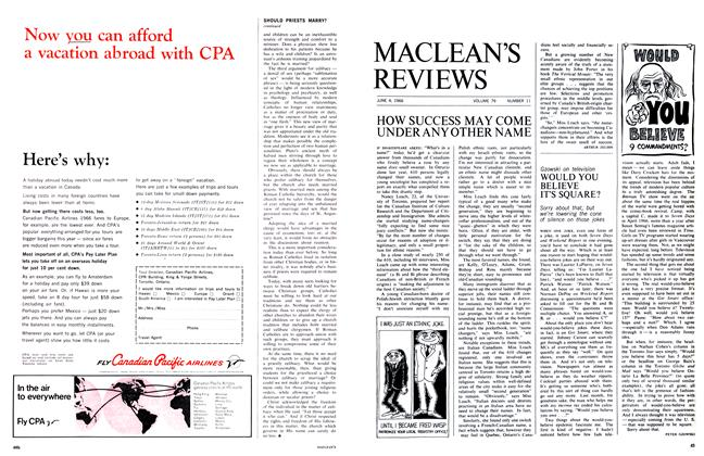 Article Preview: HOW SUCCESS MAY COME UNDER ANY OTHER NAME, June 1966 | Maclean's