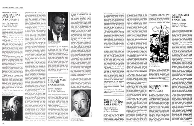 Article Preview: THE OLD MAN AND THE BIOGRAPHER, June 1966 | Maclean's