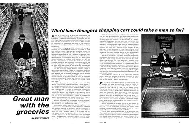 Article Preview: Great man with the groceries, July 1966 | Maclean's
