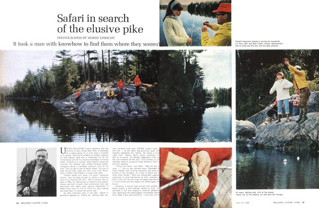 Article Preview: Safari in search of the elusive pike, July 1966 | Maclean's