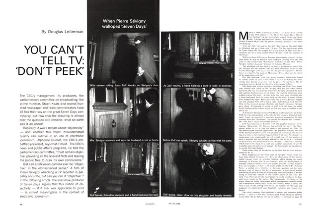 Article Preview: YOU CAN'T TELL TV: 'DON'T PEEK', July 1966 | Maclean's